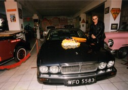 Bogusław Linda with his Jaguar